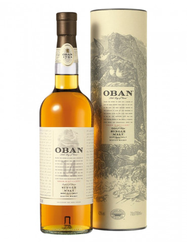 Oban - 14 ans d'âge 43° - Single Malt Scotch Whisky - 70 cl