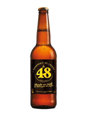 Bière Blonde au Miel de Châtaigniers - La 48 - Brasserie de Lozère - 5°