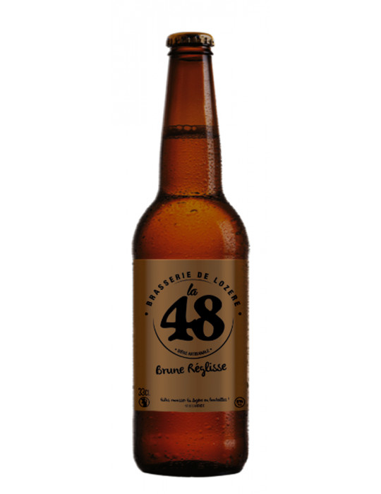 Bière Brune Réglisse - La 48 - Brasserie de Lozère