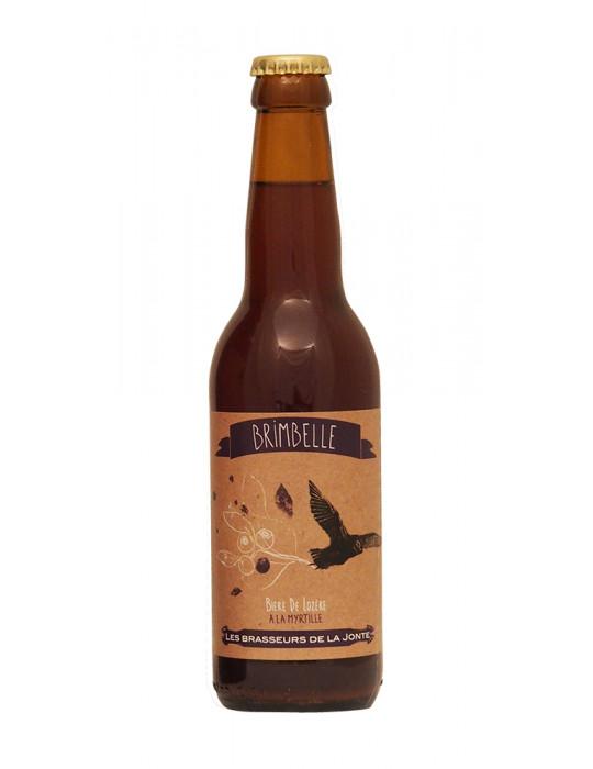 Bière blanche de Lozère à la Myrtille - Brimbelle - Brasserie de la Jonte - 33cl