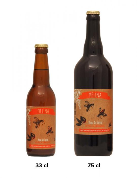 Bière blonde de Lozère au Miel de Châtaignier - Mélina - Brasserie de la Jonte - 5,5°