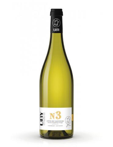 Domaine UBY - N°3 Colombard Sauvignon - IGP Côtes de Gascogne - vin blanc - 75 cl