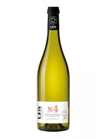 Domaine UBY - N°4 Petit et Gros Manseng - IGP Côtes de Gascogne - vin blanc - 75 cl
