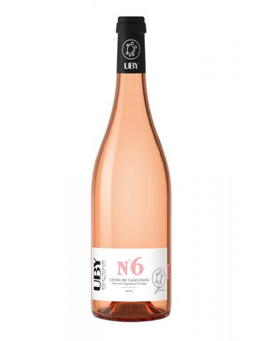 Domaine UBY - N°6 Rosé - IGP Côtes de Gascogne - vin rosé - 75 cl