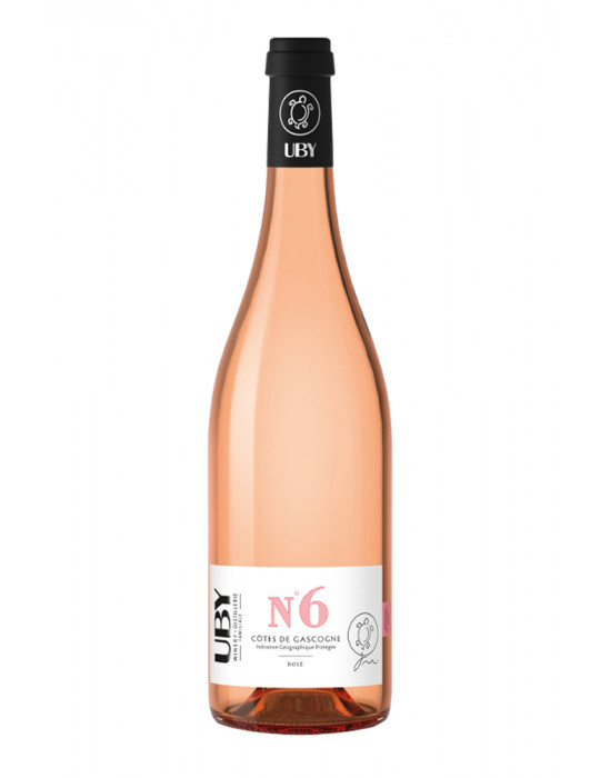 VIN ROSE-DOMAINE UBY-N°6 ROSE