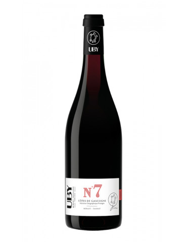 Domaine UBY - N°7 Merlot Tannat - IGP Côtes de Gascogne - vin rouge - 75 cl