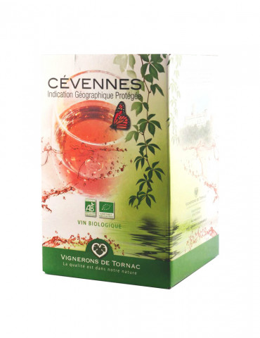 Les Vignerons de Tornac - IGP Cévennes - Vin Rosé bio - Bag in Box