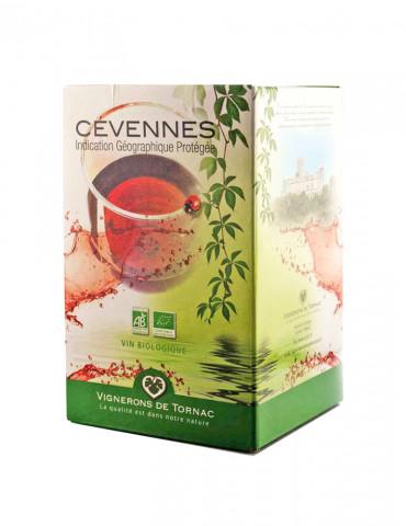 Les Vignerons de Tornac - IGP Cévennes - Vin Rouge Bio - Bag in Box