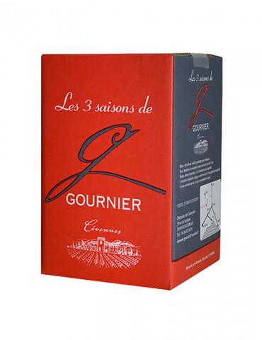 Domaine de Gournier - Les 3 Saisons -IGP Cévennes - Vin Rouge - Bag in Box