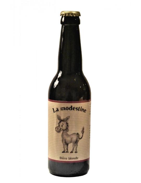Bière artisanale blonde de Lozère - La Modestine - La Brasseuse des Cévennes - 33cl