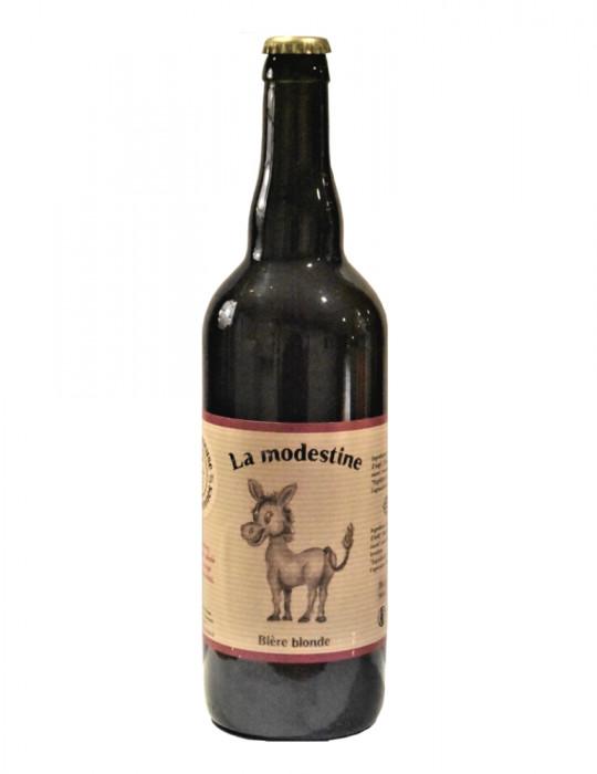 Bière artisanale blonde de Lozère - La Modestine - La Brasseuse des Cévennes - 75cl