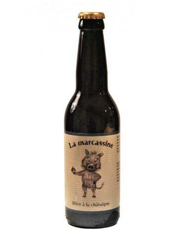 La Brasseuse des Cévennes - Bière ambrée à la Châtaigne de Lozère - La Marcassine - 5°