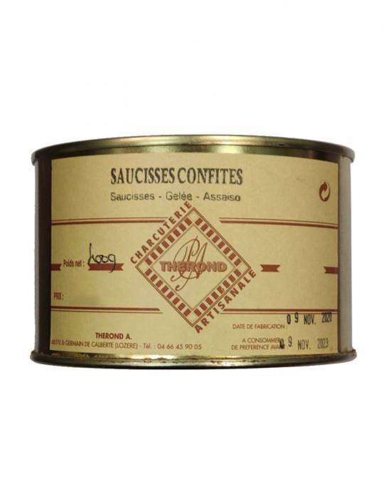 Saucisses confites artisanales - Charcuterie Maison André Thérond - 400 g
