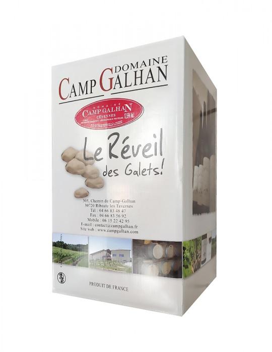 VIN ROUGE-DOMAINE CAMP GALHAN-LE REVEIL DES GALETS-BIB ROUGE