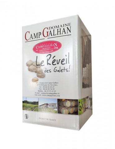 Domaine Camp Galhan - Le Réveil des galets - IGP Cévennes - Vin Rosé - Bag in Box