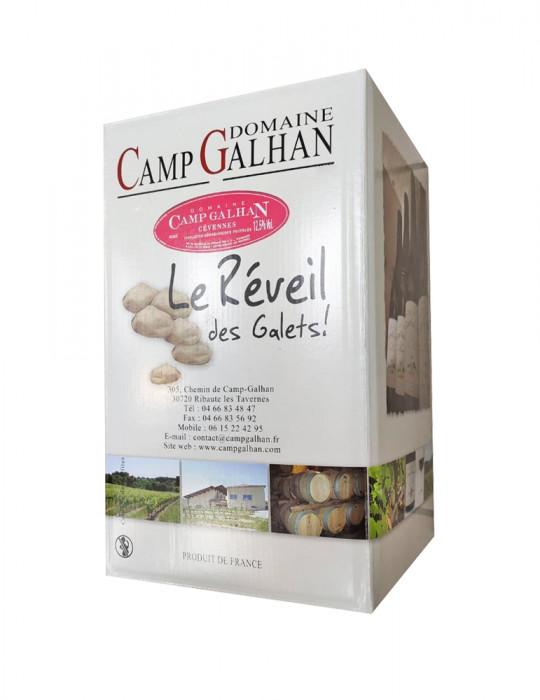 VIN ROSE-DOMAINE CAMP GALHAN-LE REVEIL DES GALETS-BIB ROSE