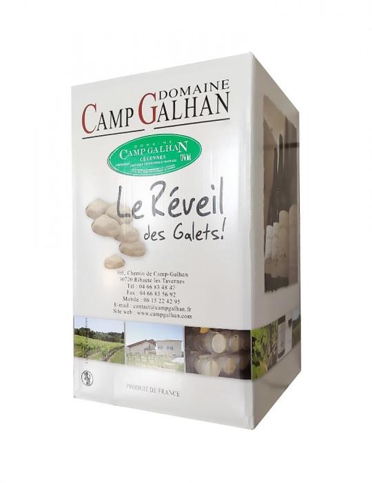 VIN BLANC-DOMAINE CAMP GALHAN-LE REVEIL DES GALETS-BIB BLANC