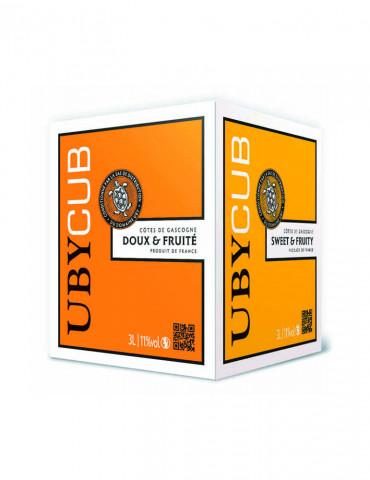 Domaine UBY - UBY CUB Doux et Fruité - IGP Côtes de Gascogne - vin blanc - Bag in Box