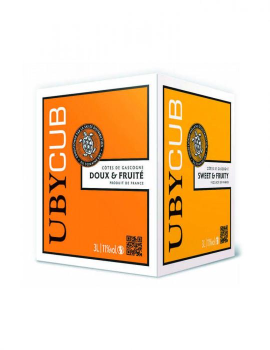 VIN BLANC-DOMAINE UBY-BIB DOUX ET FRUITE