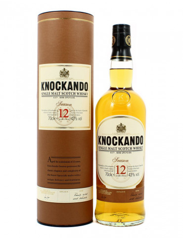 Knockando Season 12 ans - Whisky Ecossais 43° - Single Malt - 70 cl