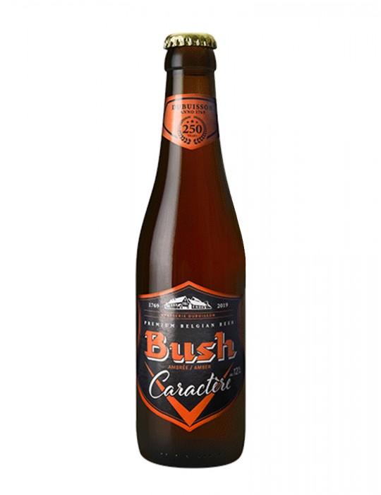 BIERES-BRASSERIE DUBUISSON-BUSH AMBREE CARACTERE 33 CL